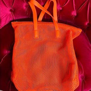 Neon orange forever 21  tote bag!